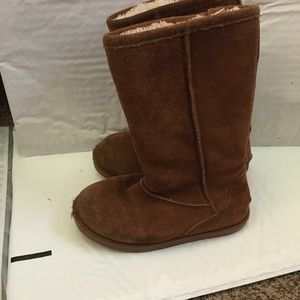 Girls brown knee high boots